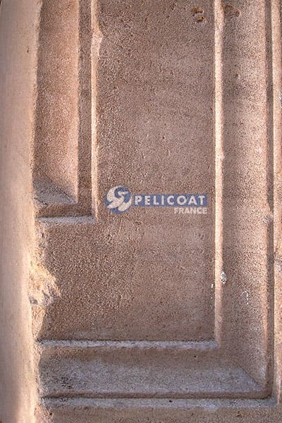 Pelicoat stone wall test France products cleaning renovation protection heritage laboratory Pelicoat